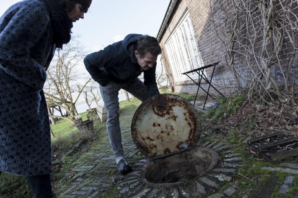 Hoogwater aan de Waal in de uiterwaarden van Heerewaarden © Michiel Bles